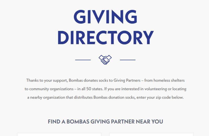 Charitable Sock Directories