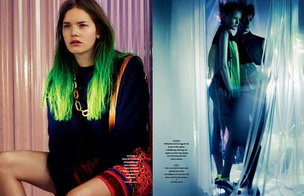 Neon-Sparked Tresses