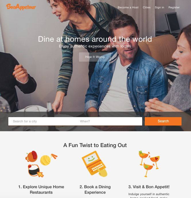 P2P Dining Apps