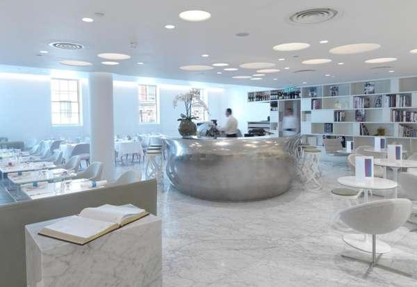 Futuristic Fashion Diners Bond Amp Brook Restaurant Interior