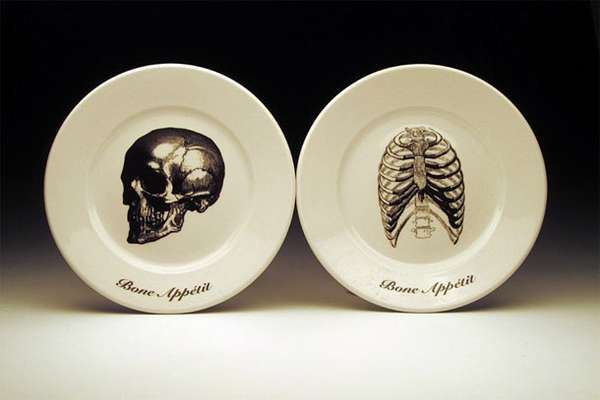Illustrated Skeletal Dinnerware