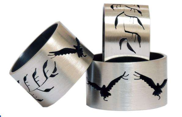 Saw-Pierced Rings