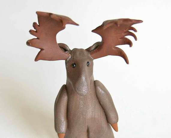 Antlered Canadiana Figurines