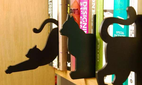Feline Wooden Book Dividers