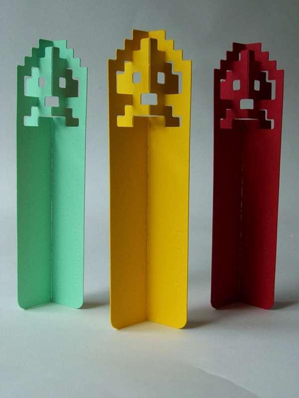 Nerdy 8-Bit Bookmarks