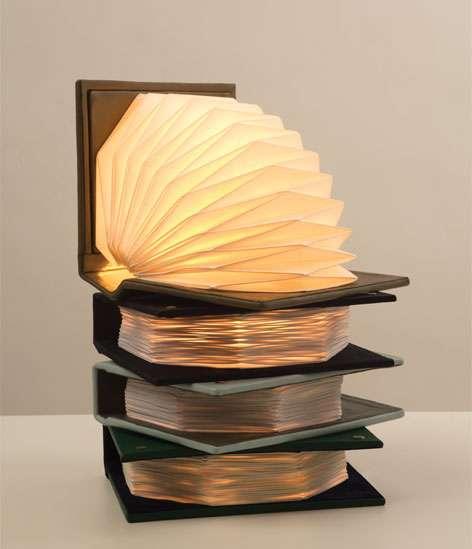 Marvelous Literary Accordion Lamps
