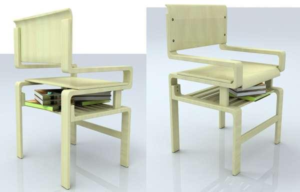 Minimal Mantle Seating & Minimal Mantle Seating : Bookshelf chair