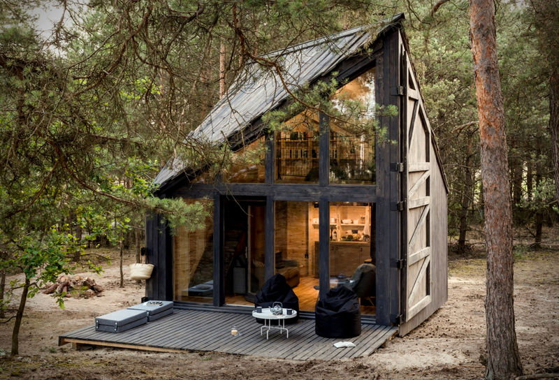 Book-Filled Polish Vacation Cabins