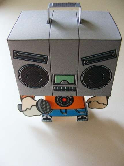 Angry Paper Toys Boombox Head