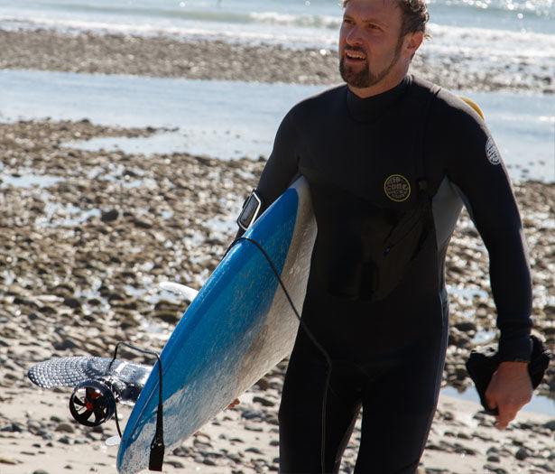 Motorized Surfboard Fins