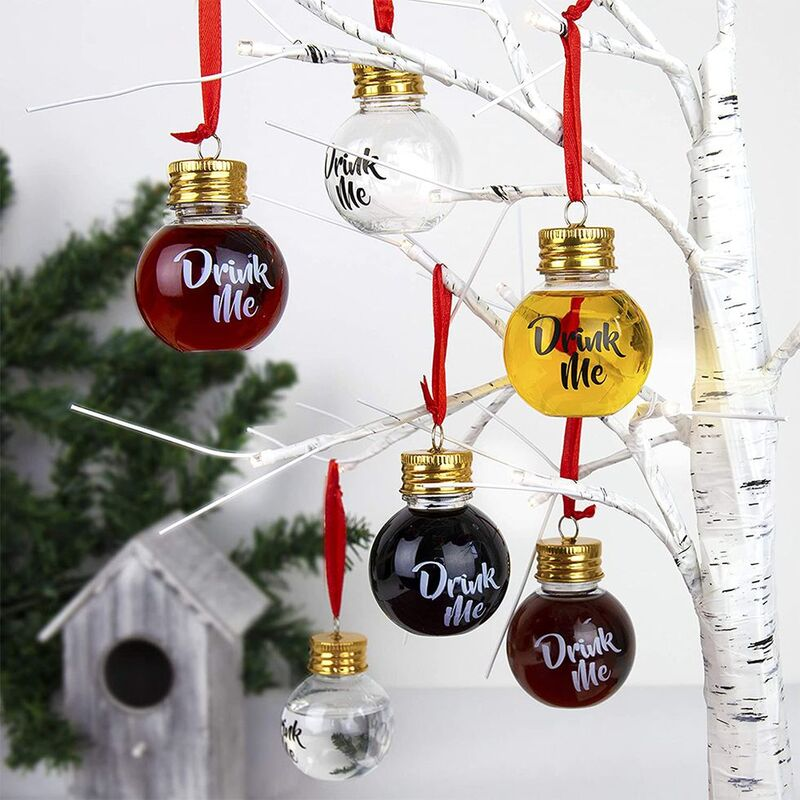 Booze-Filled Christmas Ornaments