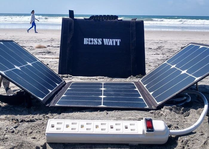 Outlet-Equipped Solar Panels