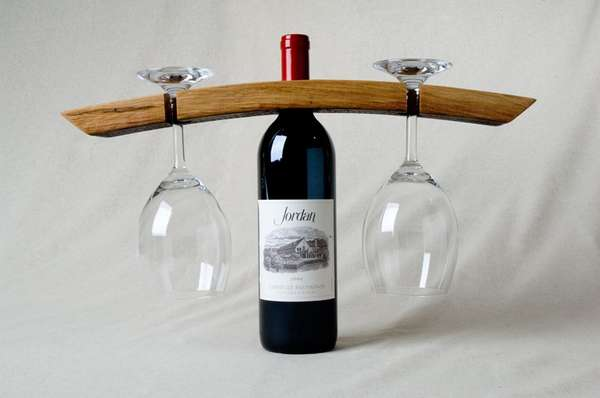 Vintage Vino Votives Bottle And Glass Holder
