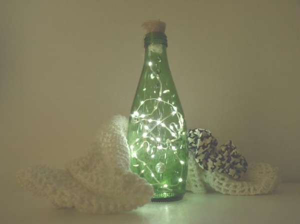 Firefly-Mimicking Bottle Lamps