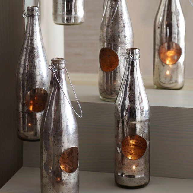Upcycled Bottle Lanterns