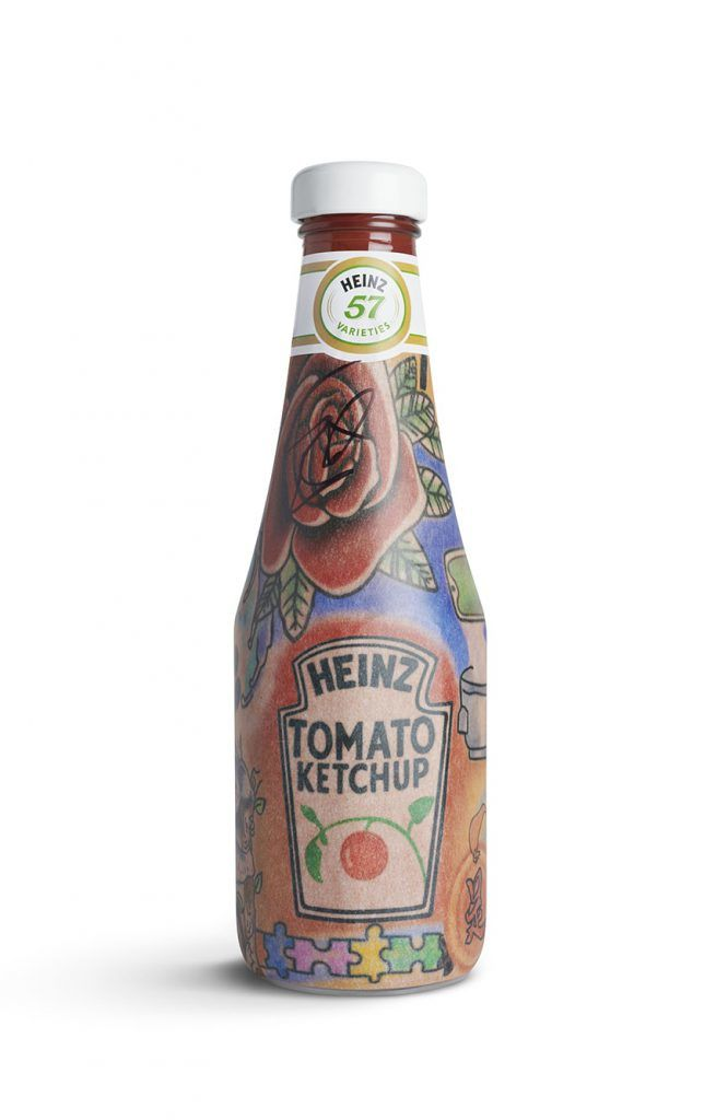 Tattooed Ketchup Bottles