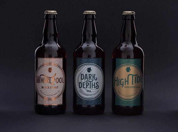 Upscale Oceanic Beer Branding