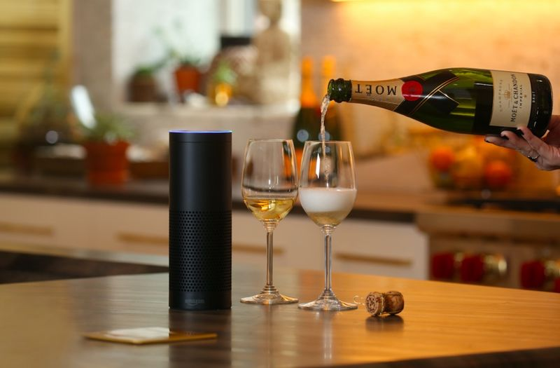 Voice-Activated Champagne Concierges