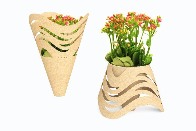 Transforming Flower Bouquet Packaging