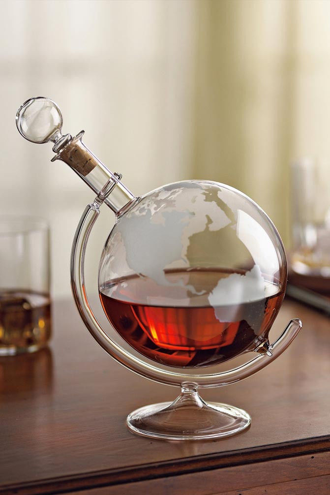 Globe-Shaped Decanters