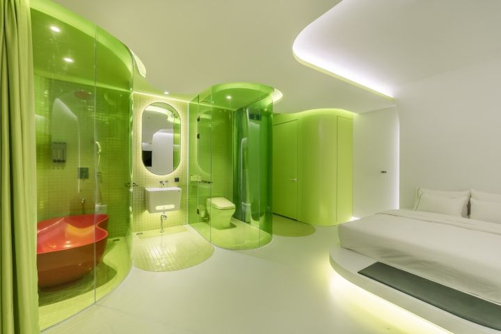 Lime-Themed Hotel Suites