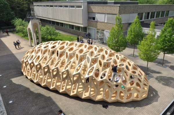 Perforated Accordion-like Pavilions