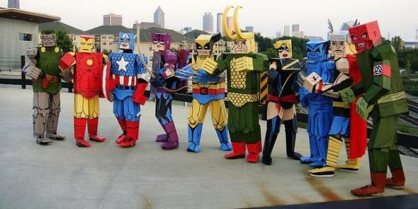 Cubed Comic Book Characters