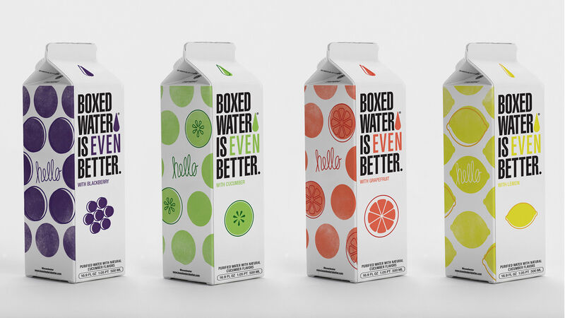 Flavored Water Cartons