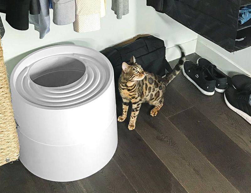 Circular Designer Litter Boxes