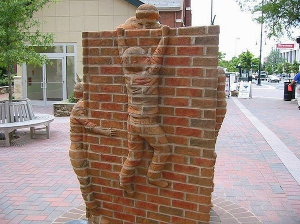 Surreal Brick Sculptures