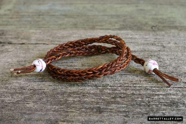 Braided Leather Wrap Bracelets