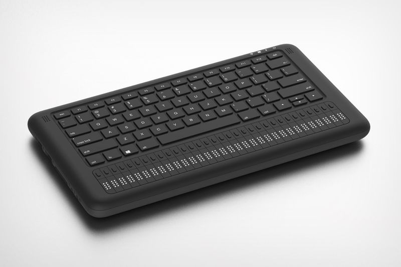 Screen-Free Braille-Integrated PCs