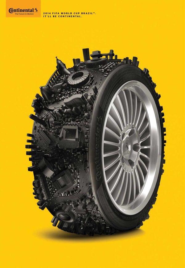 Cityscape Tire Ads
