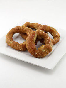 Pretzel-Breaded Onion Rings