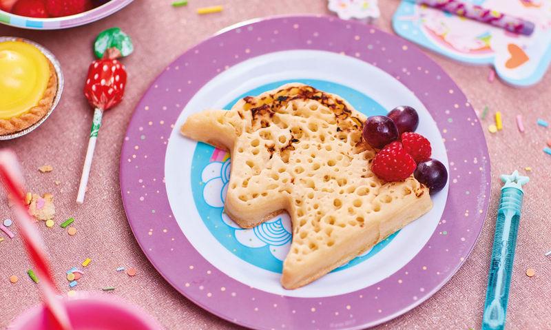 Unicorn-Shaped Breakfast Crumpets