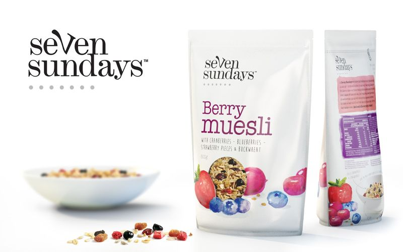 Watercolor Muesli Packaging