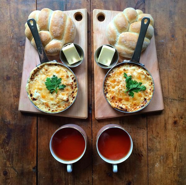 Symmetrical Breakfast Photography