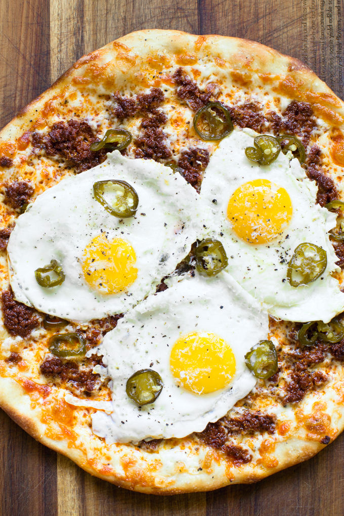Spicy Breakfast Pizzas