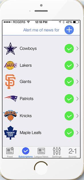 Customizable Sports News Apps
