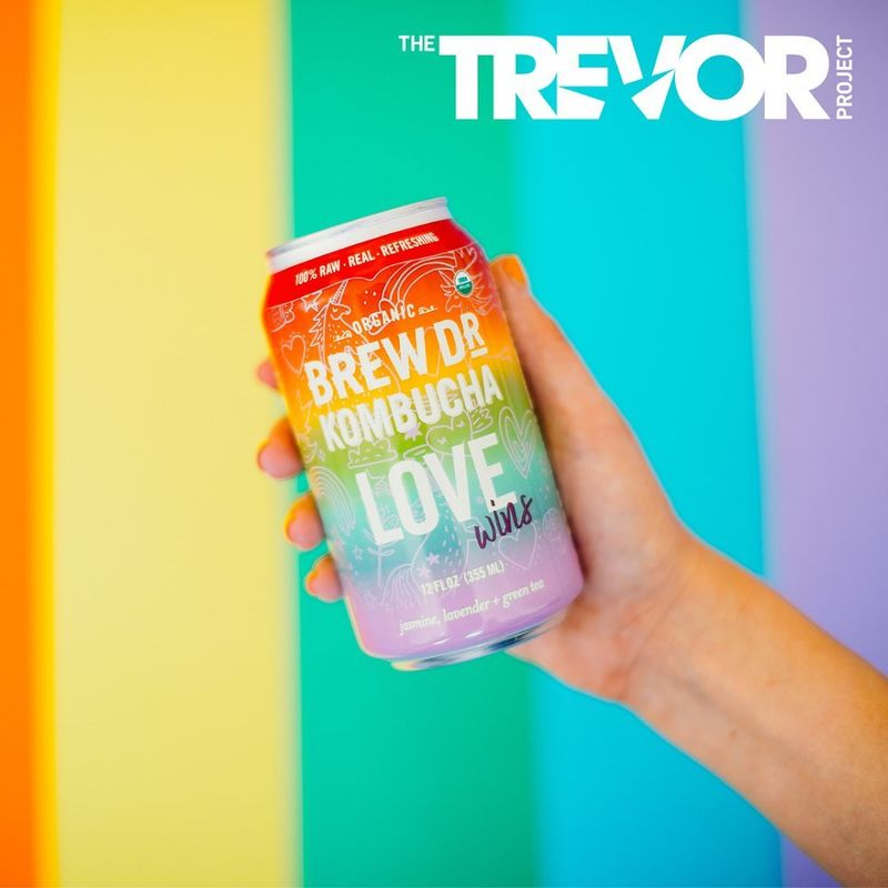 Rainbow-Colored Kombucha Cans