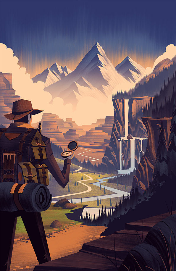 Digitized Outdoorsy Illustrations