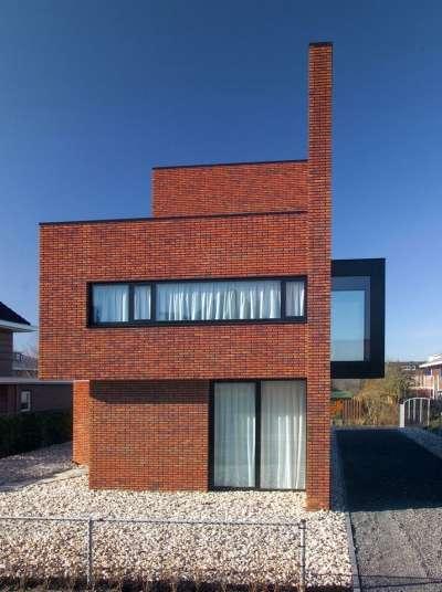 Modern Masonry Residences Brick Wall House By 123DV