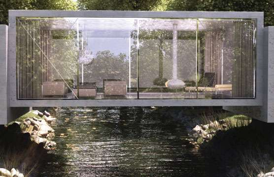 River Spanning Residences Bridge House By Objecktcreative