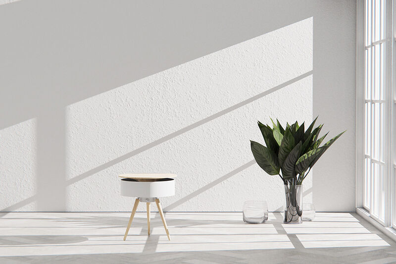 Fan-Equipped Side Tables