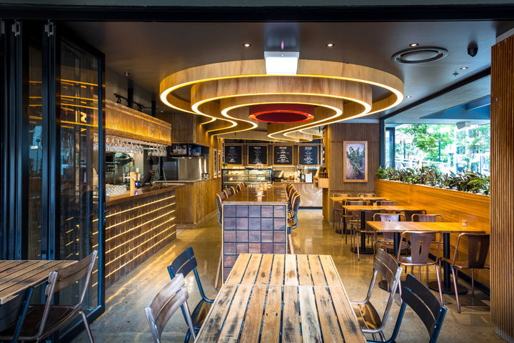 Mine inspired restaurant interiors brisbane
