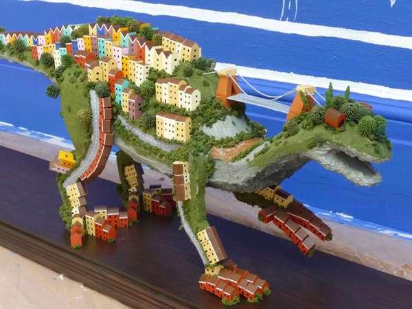 Hillsides as Dinosaurs