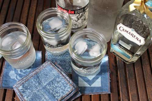 DIY Upcycled Jean Coasters