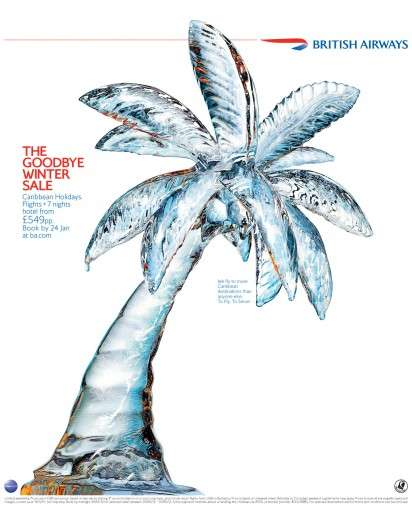 Icy Palm Tree Ads