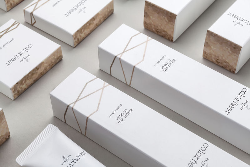 Pixelated Cosmetics Packaging