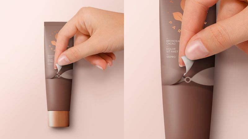 Peelable Bronzer Packaging